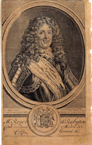 LEFEBVRE Claude (d'après, peintre), BLOIS Abraham de (graveur) : Roger de Rabutin comte de Bussy