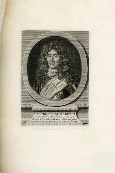 LEFEBVRE Claude (d'après, peintre), GAILLARD René (graveur) : Roger de Rabutin comte de Bussy