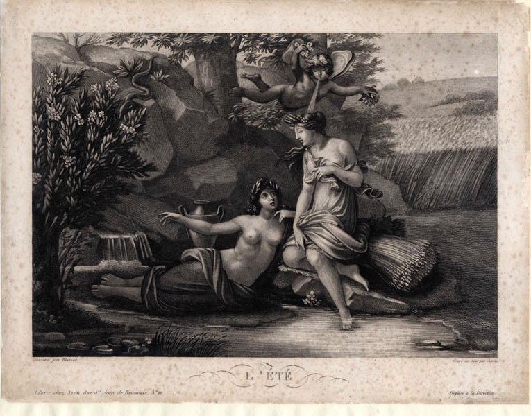 BLAIZOT (dessinateur), CHARON Louis François (graveur), JEAN (imprimeur) : L'été