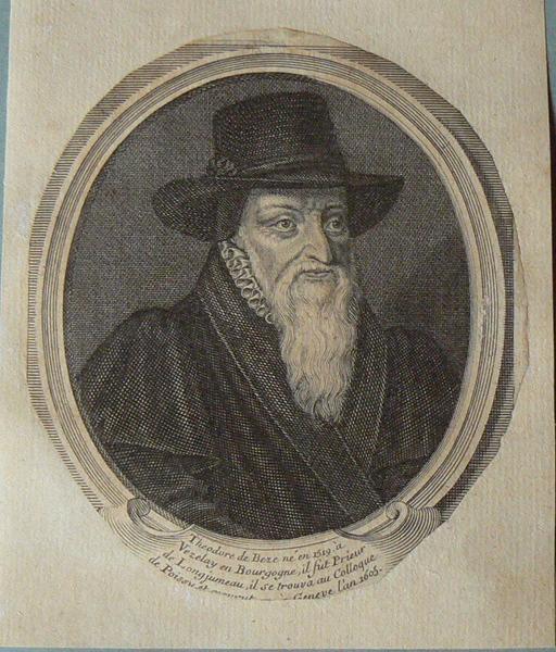 anonyme (graveur) : Théodore de Bèze