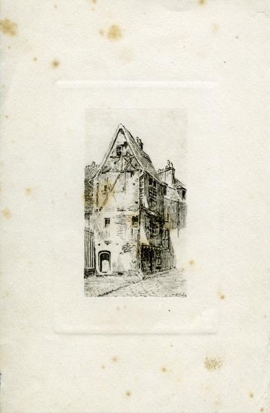 GUDIN DE VALLERIN Etienne (graveur) : Maison rue Saint-Genest à Nevers