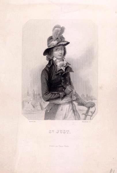 RAFFET Auguste (dessinateur), BOSSELMAN (graveur), FURNE (éditeur) : Saint-Just