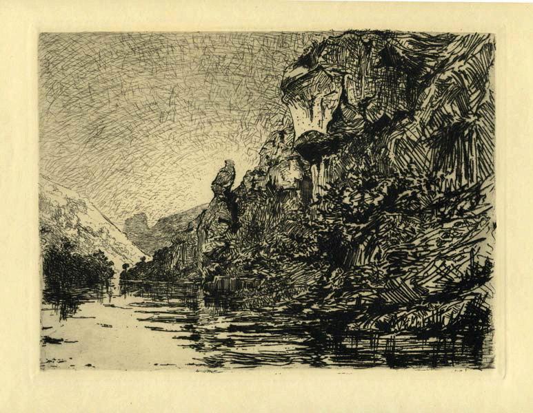GUDIN DE VALLERIN Etienne (graveur) : Paysage