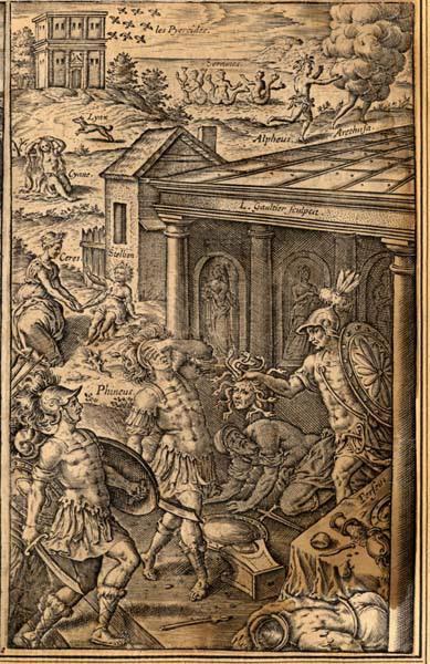 GAULTIER Léonard (graveur) : Le combat de Persée contre Phinée