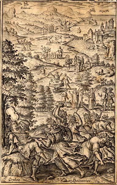 GAULTIER Léonard (graveur) : La mort d'Orphée