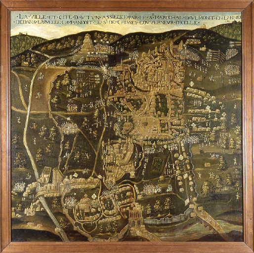 La ville et cité d'Autun assiégée (...) 1591_0