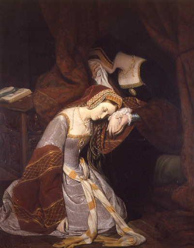 Anne Boleyn à la tour de Londres dans les premiers moments de son arrestation_0
