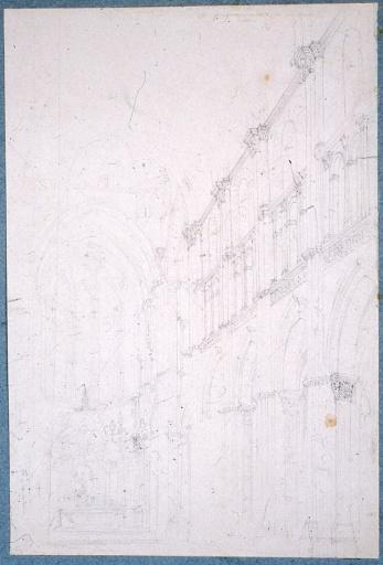 Vue de la nef et du choeur de la cathédrale d'Autun_0