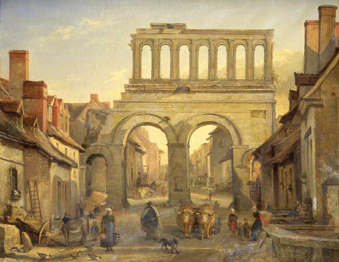 La porte d'Arroux à Autun_0