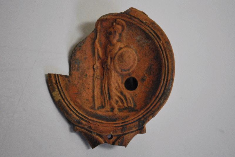 anonyme (céramiste) : lampe à huile