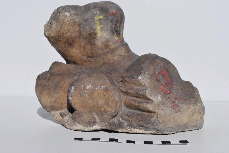 statuette ;tête, fragment : Cybèle