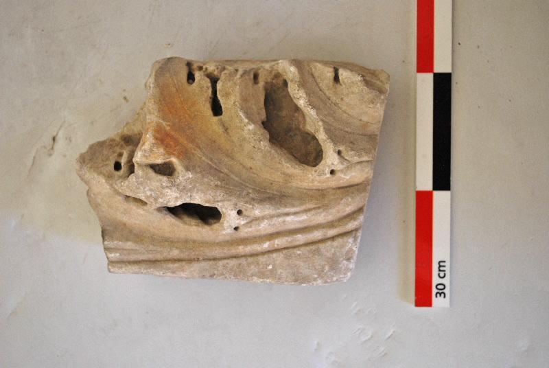 plaque, élément d'architecture, fragment