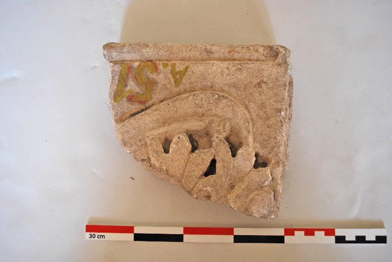 anonyme (artisan) : plaque, élément d'architecture, fragment