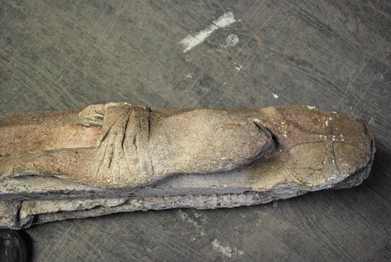 anonyme (sculpteur) : Christ en croix et sainte femme