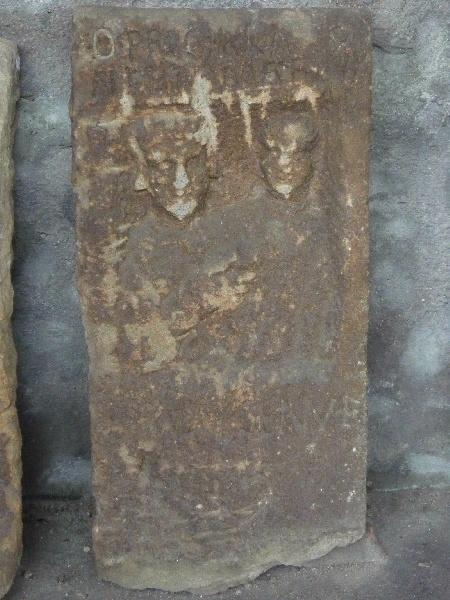 Stèle à inscription PRICILLA / NERTOMARI VX_0