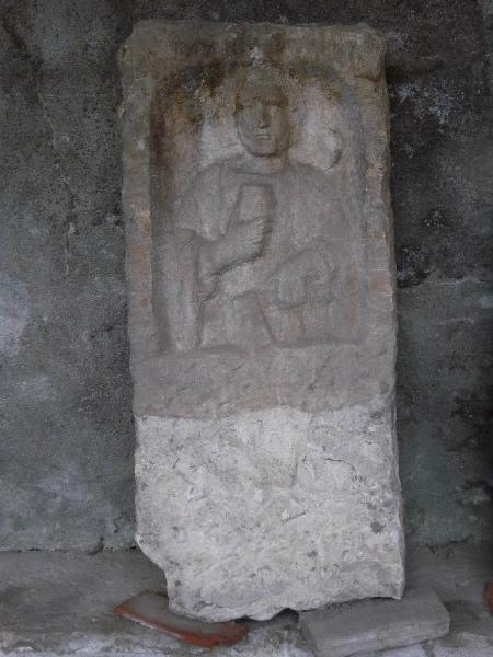 anonyme (sculpteur) : Stèle à inscription MARECO