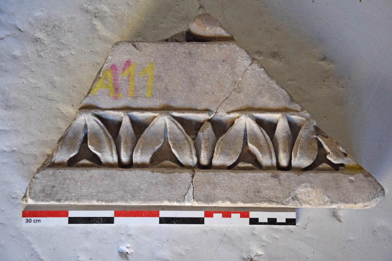 anonyme (sculpteur) : plaque, élément d'architecture, fragment