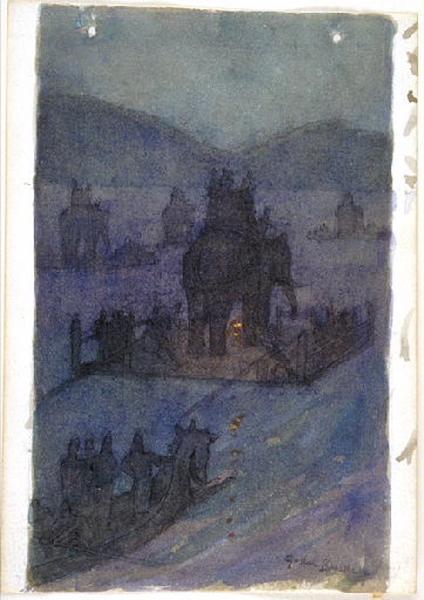 Salammbô, chapitre 06 : Hannon (Hannon avait terminé ses apprêts. Par une nuit sans lune, il fit, sur des radeaux, traverser à ses éléphants et à ses soldats, le golfe de Carthage) (étude)