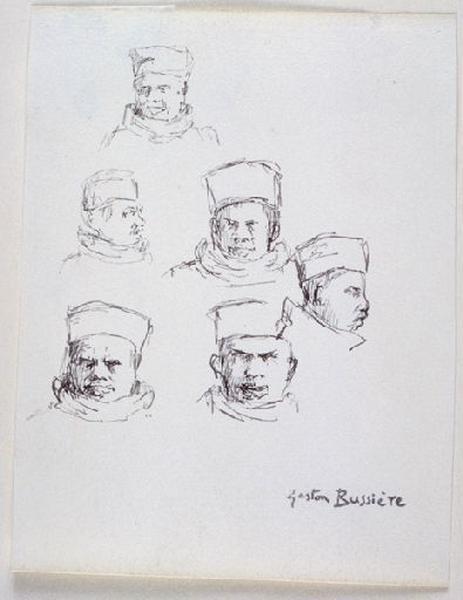 Etude : Six têtes d'hommes_0