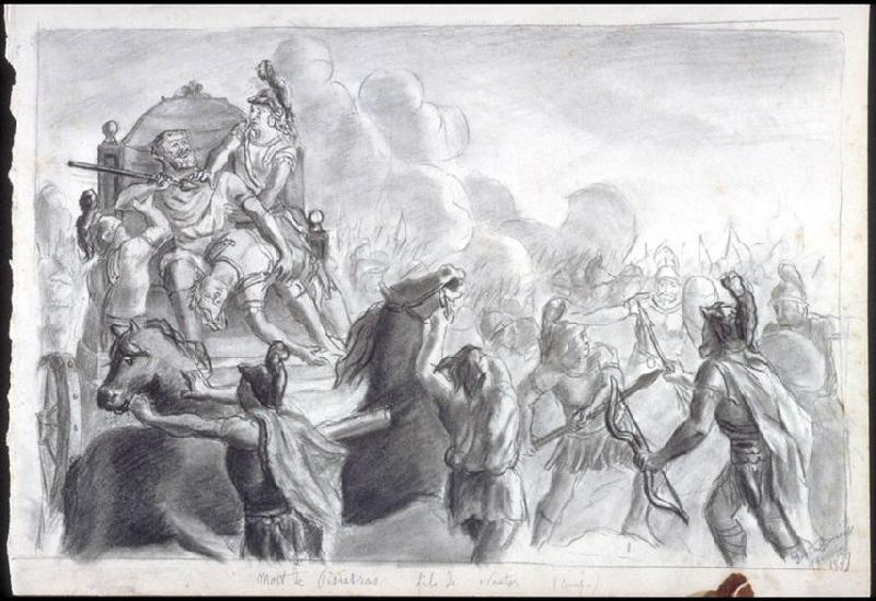 Mort de Pisistrate, fils de Nestor (Odyssée d'Homère. Chant III) ; Etude d'homme nu (Verso de l'oeuvre)_0