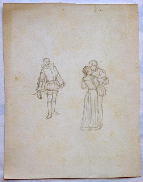 Trois personnages debout en tenues médiévales_0