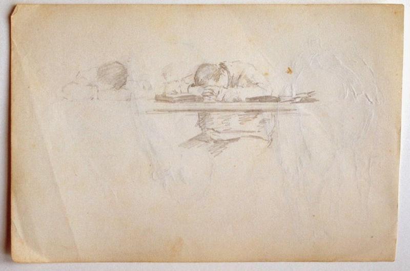Etude : deux hommes somnolants (recto) ; Etudes de cheval : tête et croupe (verso)_0