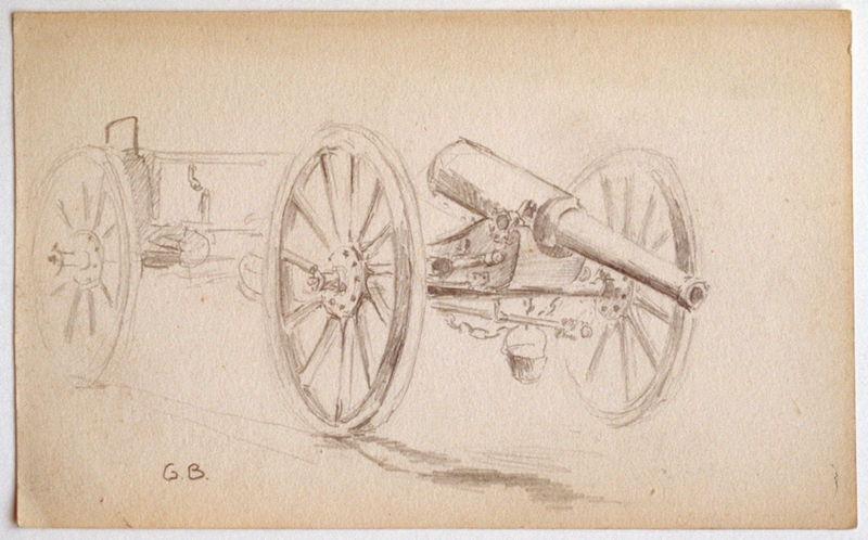 Canon d'artillerie vue de trois-quarts_0