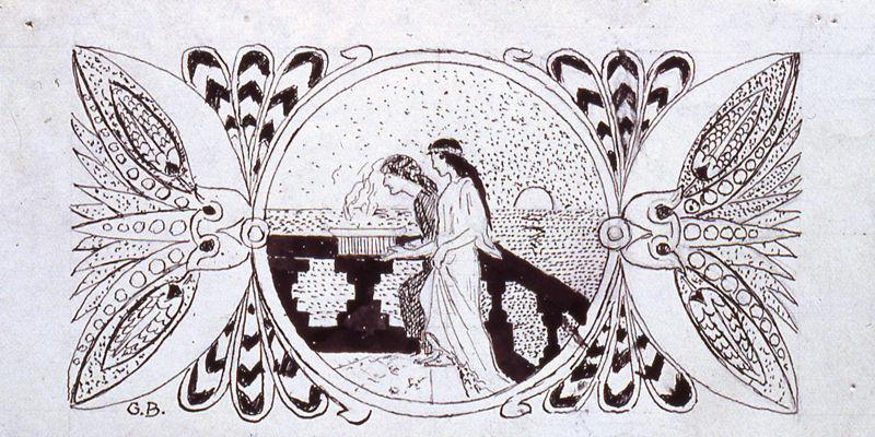 Salammbô, Bandeau de tête de chapitre - Cartouche avec vestales_0