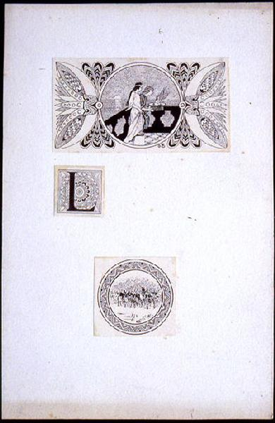 Salammbô, tête de chapitre, lettrine et cul de lampe : Vestales