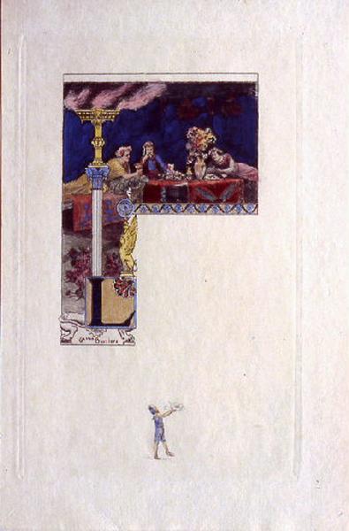 Hérodias, chapitre 03 (tête de chapitre) : Les convives emplissaient la salle du festin