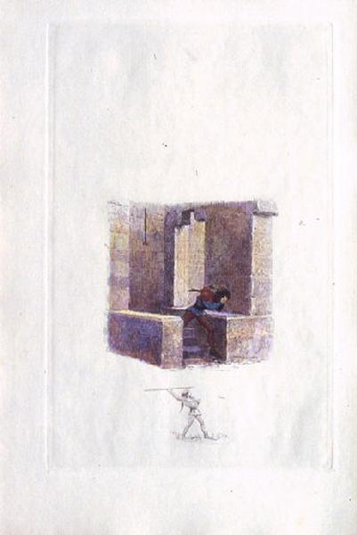 Saint Julien l'Hospitalier, chapitre 01 - Julien s'enfuit du château (tirage couleur)