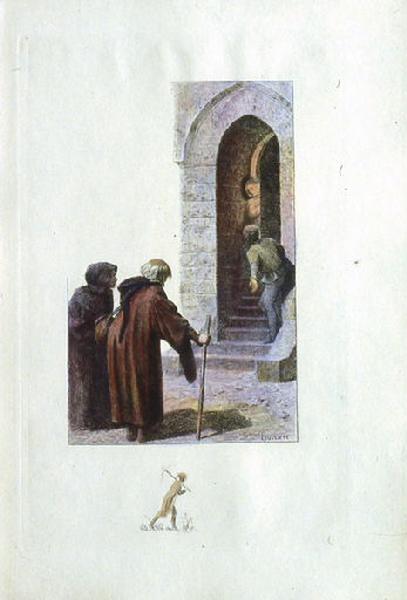 Saint Julien l'Hospitalier, chapitre 02 - Deux inconnus réclamaient la seigneuresse (tirage couleur)