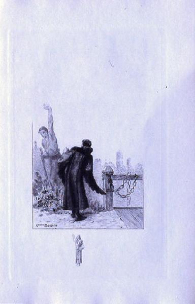 Saint Julien l'Hospitalier, chapitre 01 - Le mendiant apparaît au père de Julien (tirage noir)_0