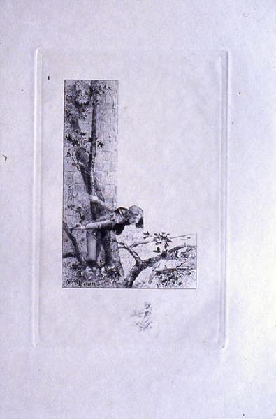 Saint Julien l'Hospitalier, chapitre 01 - Julien abattit l'oiseau (tirage noir)
