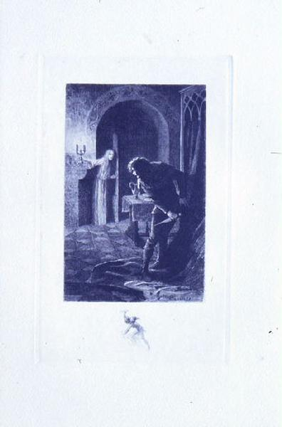 Saint Julien l'Hospitalier, chapitre 02 - Il crut voir le fantôme de sa femme (tirage bleu)