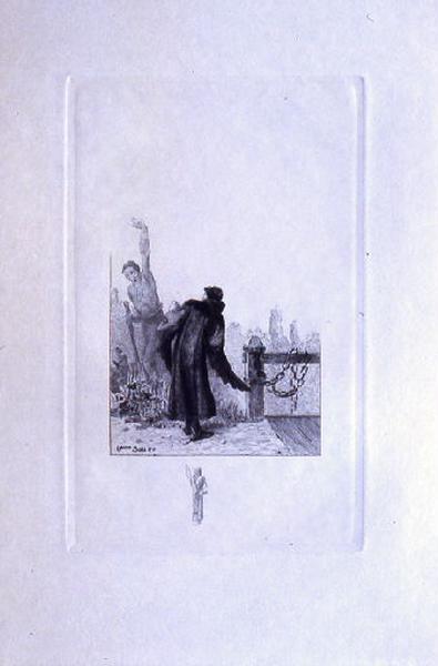 Saint Julien l'Hospitalier, chapitre 01 - Le mendiant apparaît au père de Julien' (tirage noir)_0