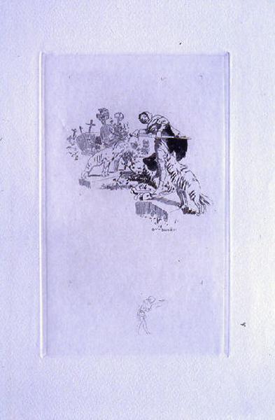 Saint Julien l'Hospitalier, chapitre 02 - On trébuchait sur les ossements de morts (1er état de la gravure)_0
