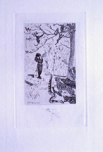 Saint Julien l'Hospitalier, chapitre 02 - Et tous les animaux se représentèrent (1er état de la gravure)_0