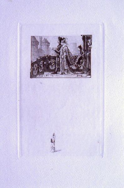 Saint Julien l'Hospitalier, chapitre 01 - Mariage des parents de Julien (tirage noir)