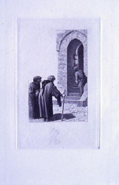 Saint Julien l'Hospitalier, chapitre 02 - Deux inconnus réclamaient la seigneuresse (tirage noir)
