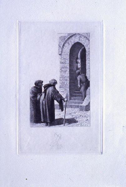 Saint Julien l'Hospitalier, chapitre 02 - Deux inconnus réclamaient la seigneuresse (tirage noir)_0