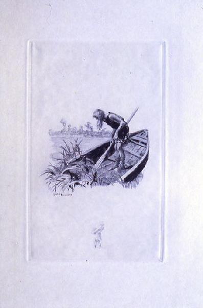 Saint Julien l'Hospitalier, chapitre 03 - Une vieille barque dressait sa proue (tirage bleu)_0