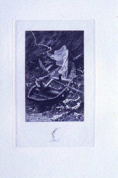 Saint Julien l'Hospitalier, chapitre 03 - Le lépreux se tenait debout à l'arrière (tirage bleu)_0