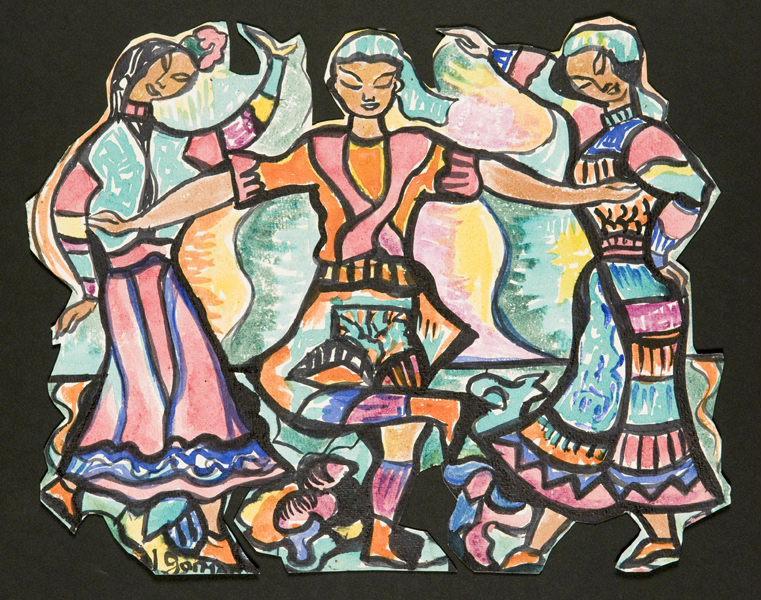 Groupe de danseurs hindous_0