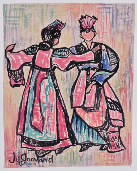 Danse traditionnelle (Danseurs japonais ?)_0