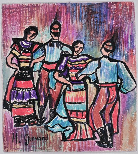 Danse folklorique (recto) ; Fées et corne d'abondance (verso)_0