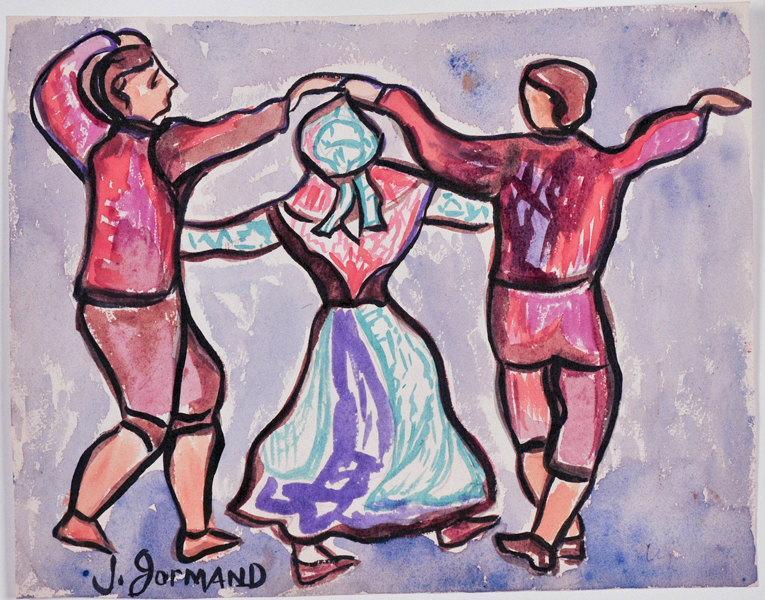 Danse traditionnelle (recto) ; Portrait de femme (verso)_0