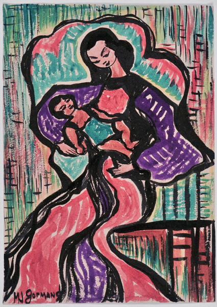 Nativité ; Femme à l'enfant_0