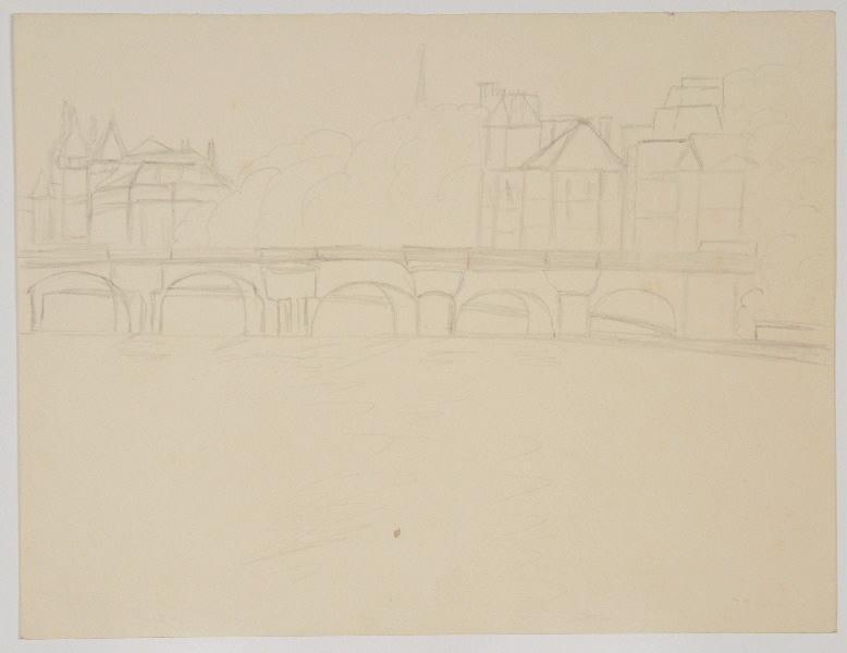 Le pont Neuf et la Conciergerie ; Pont sur la Seine_0