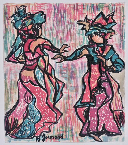 Danse traditionnelle ; Danseurs indonésiens de l'île de Sumatra_0
